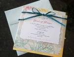 Rustic Floral Baby Shower Invitation with Envelope